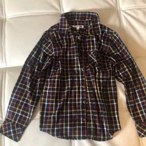 Boys plaid button up large 12-14